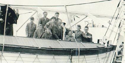 Gezin Simon-Olischlager emigreert naar Canada, 1956.
